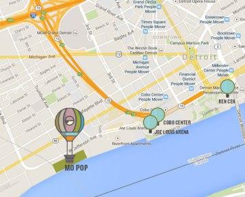 2015 Mo-Pop Festival Map