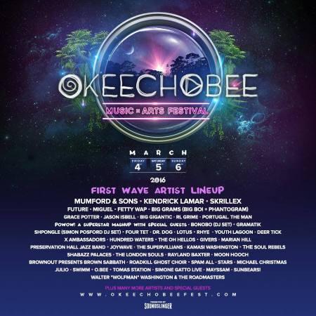 Okeechobee Phase One Lineup via fortlauderdaledaily.com
