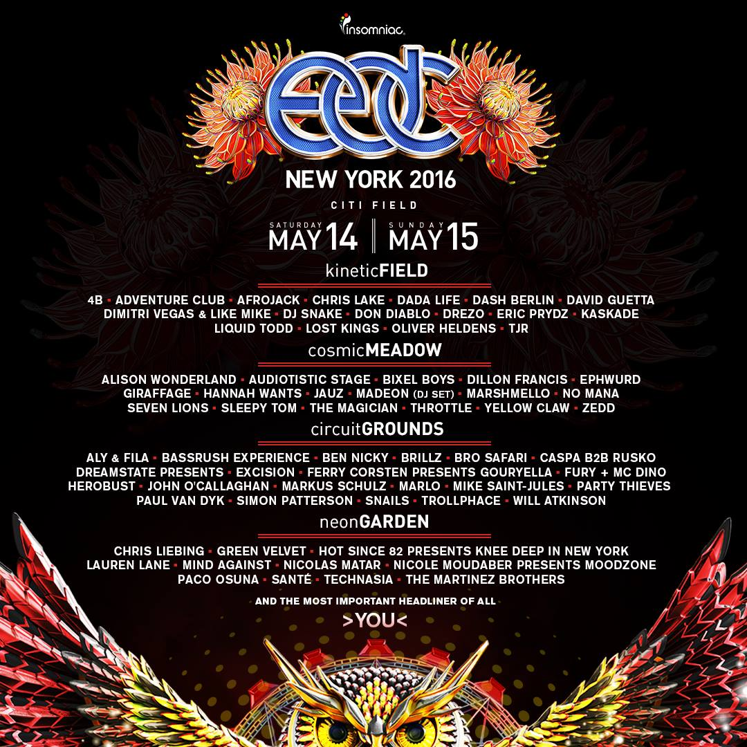 EDC New York -FestivalForecast.com