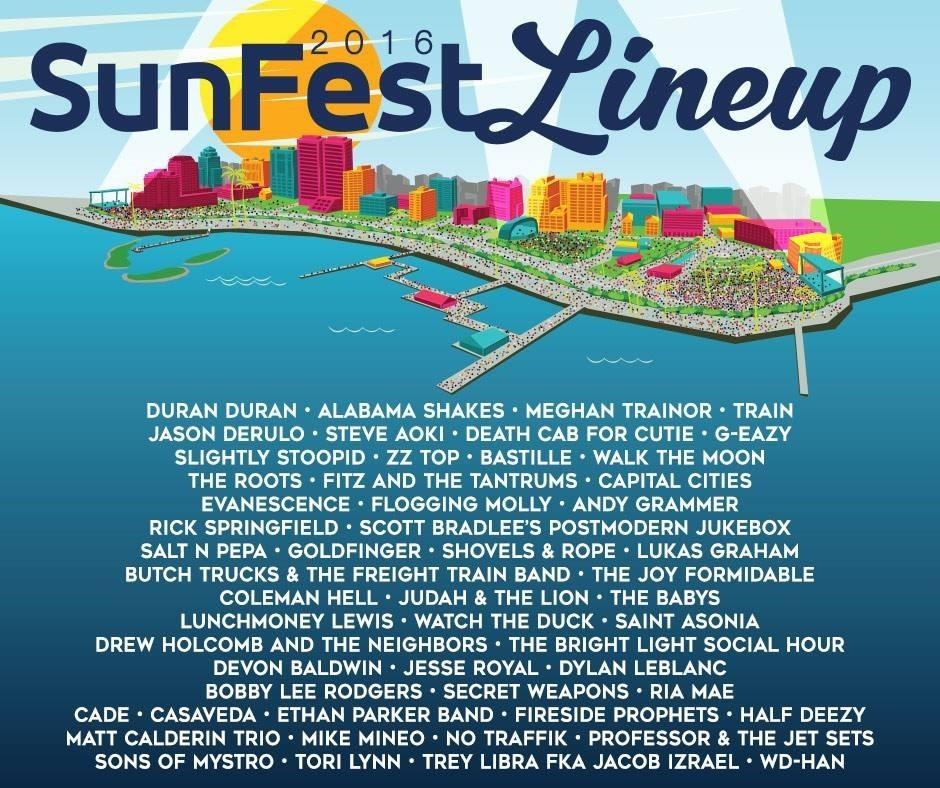 via- jambase.com - Sunfest Lineup 2016 - festivalforecast.com