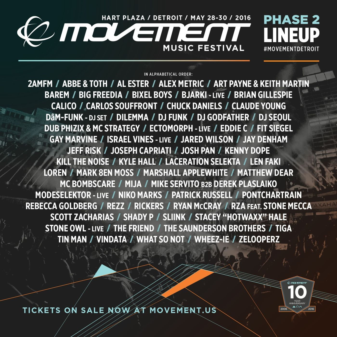 via- movement.us, Detroit Movement 2016 Lineup