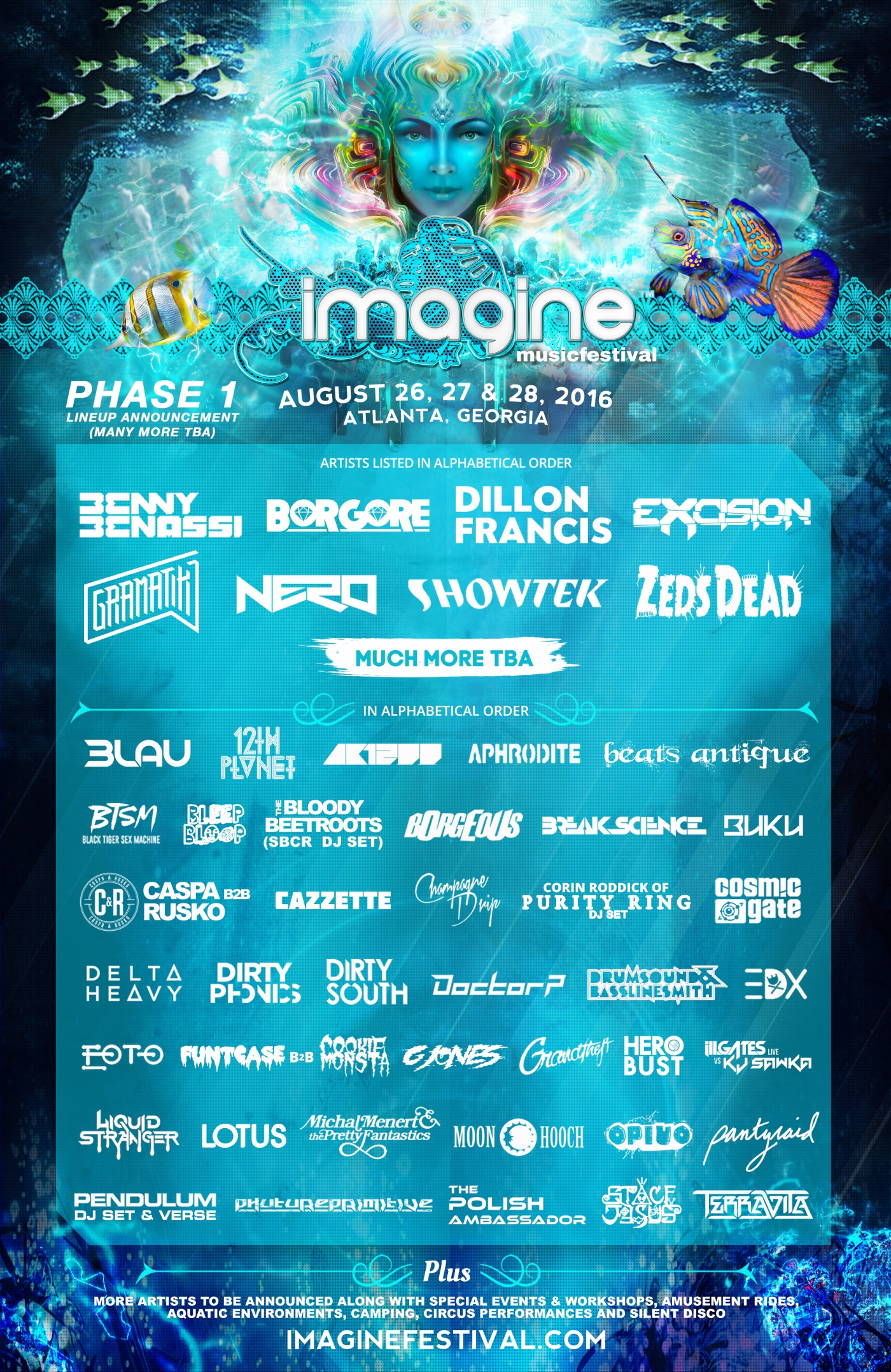 Imagine Music Festival: Phase One Lineup.